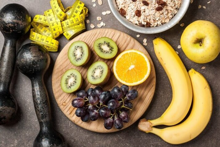 How To Lose 10 Pounds In 1 Week: 3 Step Plan; Fitness, healthy food weight loss banana fruits apple grapes kiwi