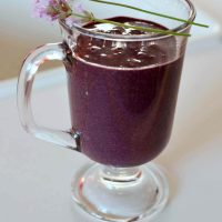 Fragrant Lavender and Blueberry Smoothie for Relaxation (Green Thickie)