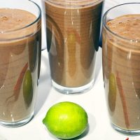 Lime, Chili & Chocolate Smoothie: Zingy, Spicy and Decadent!