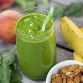 Peach Ice Cream Green Smoothie