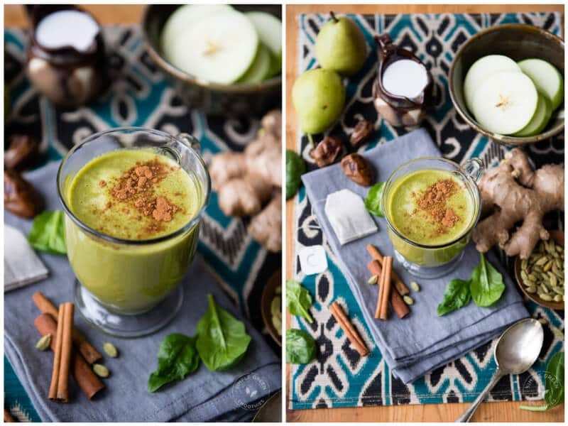 11 Warm Smoothies For Winter: Cold-Weather Breakfasts Warm Green Smoothie_ Chai Tea