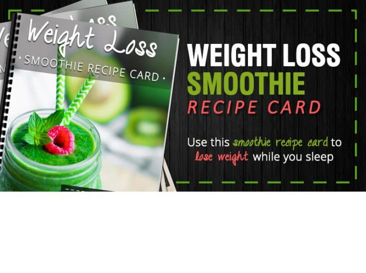 Weight Loss Smoothie Recipe Card (Spinach Smoothie)