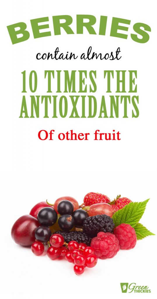 Berries contain 10 times antioxidants of other fruit - infographic