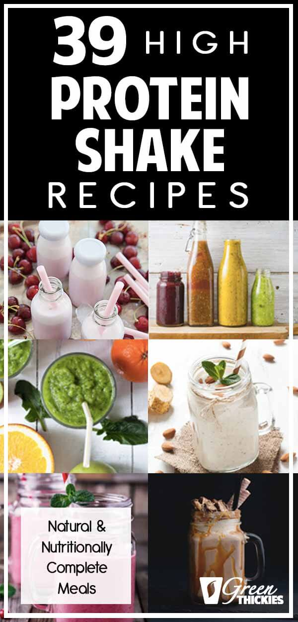 Here are 39 of my favorite healthy, homemade high protein shake recipes.Drinking these shakes has helped me drop over 56 pounds in just a few months, and pack on 13 pounds of muscle in 6 months while losing fat at the same time.Click the link below to read the full blog post and get all of the recipes:#greenthickies #proteinshakes #protein #homemadeshakes #musclebuildingshakes #musclegains #weightloss #weightlossshakes #dietshakes #highprotein #naturalprotein