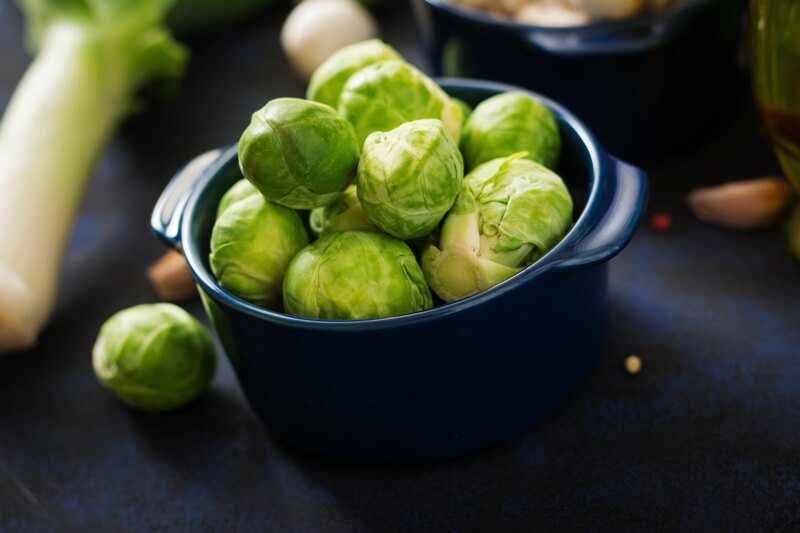 34 High Protein Vegetables You Probably Already Eat; Fresh Brussels sprouts