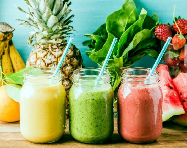 Best Small Blender For Smoothies: 8 Ways This Crushes Everything; Freshly blended fruit smoothies of various colors and tastes