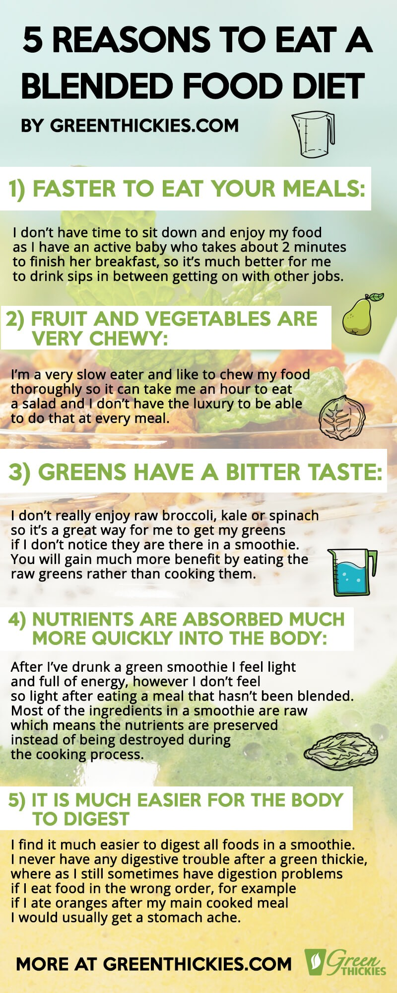How To Make A Smoothie Without Fruit Taste Delicious: 5 Ways; 5 Reasons to eat a blended food diet