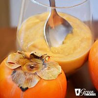 Persimmon Smoothie Dessert: Persimmon Pie in a glass