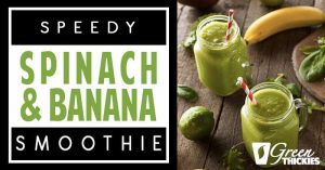 Speedy Spinach & Banana Smoothie (2 Ingredients, Vegan, Tasty)