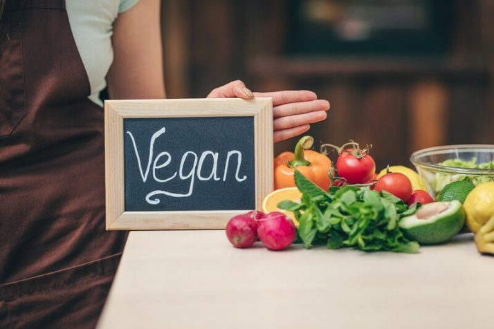 5 Signs You Are Suffering From A Protein Deficiency; Young woman with a plate and vegan food