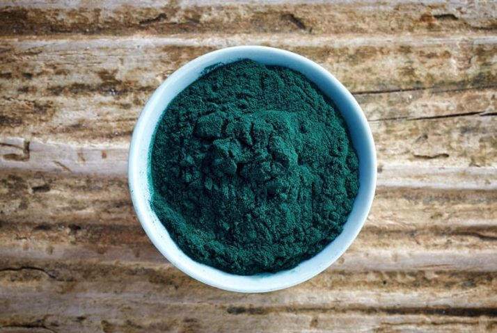 19 Best Plant Based Protein Sources: Complete Whole Foods; bowl of spirulina algae powder