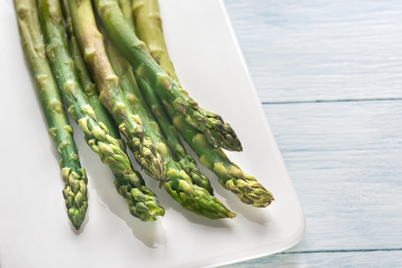 34 High Protein Vegetables You Probably Already Eat; cooked asparagus