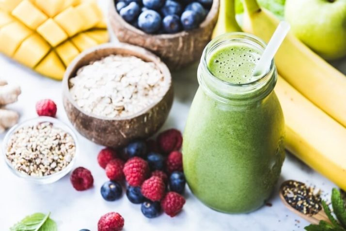 Best Small Blender For Smoothies: 8 Ways This Crushes Everything; green smoothie berries fruits