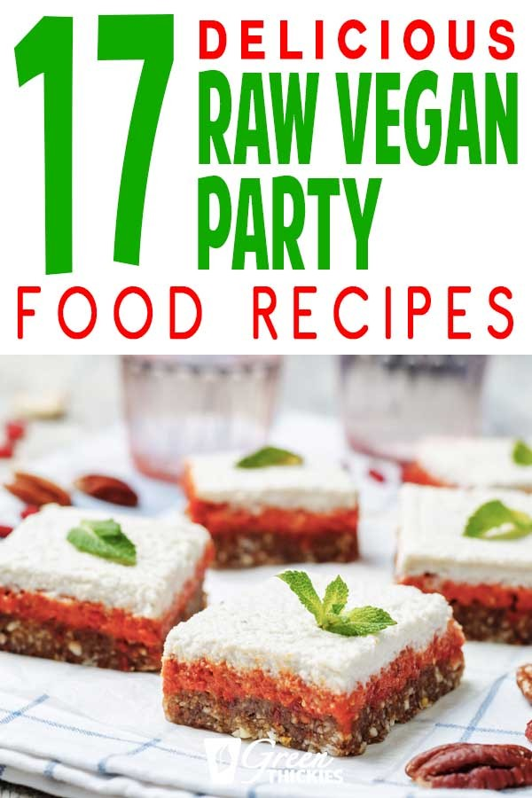 All the best tasty raw vegan party food recipes for a lunch or dinner providing incredible health benefits and detox.  Your guest will be blown away and full of energy.These easy raw food meals provide a healthy diet for incredible health benefits including weight loss.Includes salad, bread, cake, bars, fruit, noodles, snacks, sauces, burger, pizza, cheesecake, dressing, chocolate, sauce, crackers, chips, dips, pastaClick the link to read more...#greenthickies #rawvegan