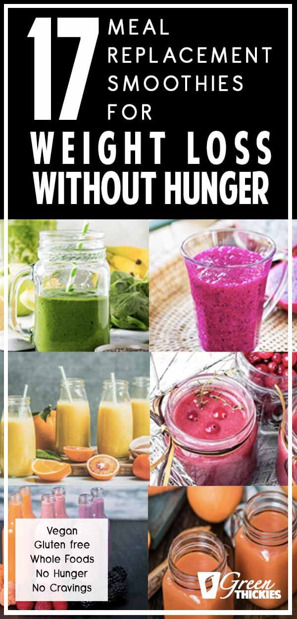 These meal replacement smoothies are all calorie counted and the ingredients are chosen for weight loss.  And best of all, these smoothies are so filling that you can easily lose weight without going hungry.Just replace your breakfast and your lunch with one of these homemade weight loss shakes and you'll see fast results.#greenthickies #mealreplacementshake #mealreplacementsmoothie #weightlossshakes #weightlosssmoothies #weightloss #vegan #glutenfree #dairyfree #refinedsugarfree