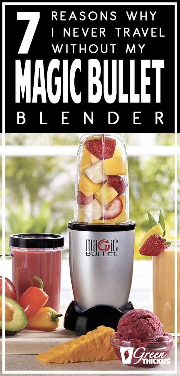 My fascination for green smoothies has taken me to a whole new level of obsession about blenders.I have several blenders that I love and have been using for years, and it is about time I told you why I love my Magic Bullet so much.Here is my Magic Bullet blender review, and the reasons I never travel without it.Click the link to read the full blog post:#greenthickies #blender #magicbullet #bestblender