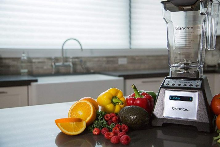 Blendtec Blender and fruits and vegetables