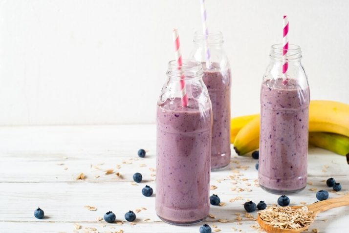 Blueberry milkshake smoothie