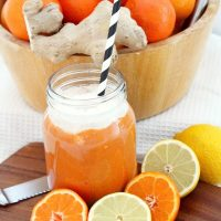 Cold and Flu Busting Coconut and Orange Smoothie (With 4 Options)