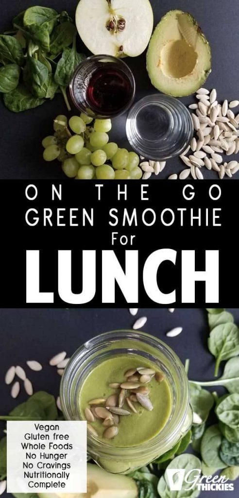 On The Go Green Smoothie For Lunch Recipe