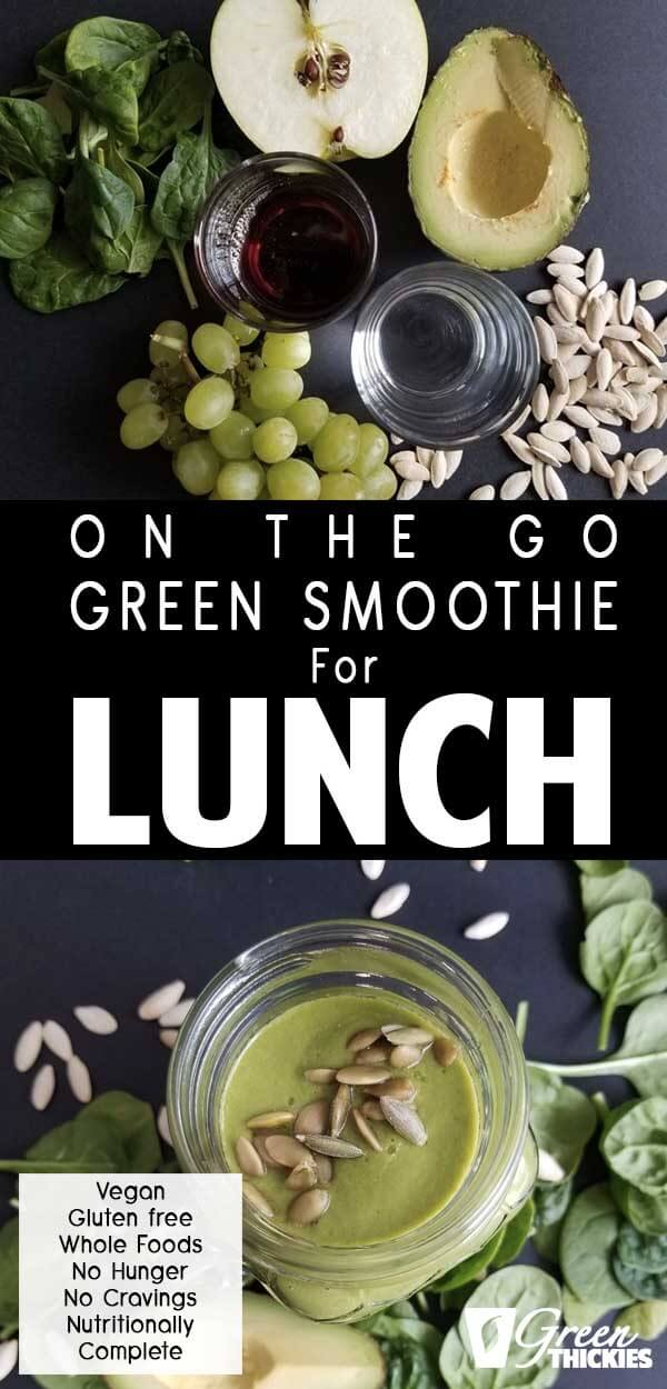 This is the perfect green smoothie recipe for lunch if you're always on the go.  It is tasty and will fill you up until dinner time.After drinking this smoothie you won't get any hunger pangs or cravings.I have designed this smoothie for easy weight loss even if you don't have time to stop.Click the link below to get the printable recipe:#greenthickies #greensmoothie #vegan #glutenfree #smoothie #healthylunch