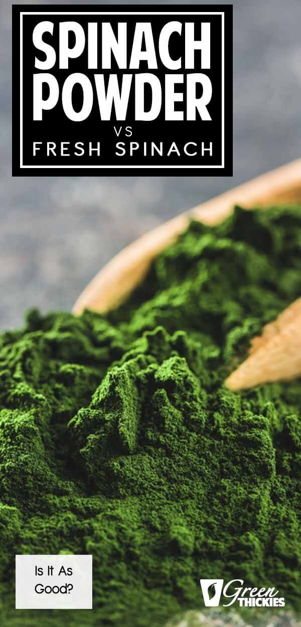 Spinach powder vs fresh spinach.  Which is better?  Today I'm putting fresh spinach to the test against powdered spinach extract. Did you know that one of these two forms of dietary spinach is actually healthier than the other? Yes, and there's actually science behind this claim.Click the link to read the full blog post and get my spinach powder smoothie recipe:#greenthickies #spinachpowder #spinachextract #howtomakespinachpowder #spinachpowderrecipe #spinachpowdersmoothie