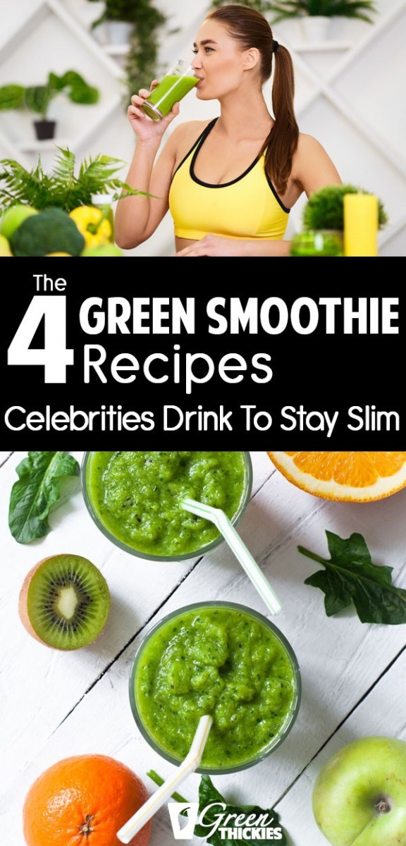 I'm so excited to share the secret green smoothie recipes celebrities are drinking to stay slim.Once you make green smoothies a habit like the celeb do, you'll start seeing the same kind of results that they get.Click the link below to read the full blog post and get the printable celebrity recipes:#greenthickies #greensmoothies #greensmoothierecipes #greensmoothiecelebrities #smoothiecelebrities #celebdiets #celebritydiets #celebrityfood #smoothie