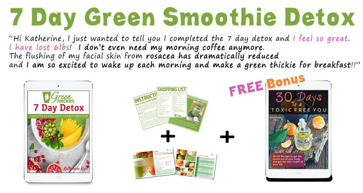 7 Day Green Smoothie Detox bonuses With Text