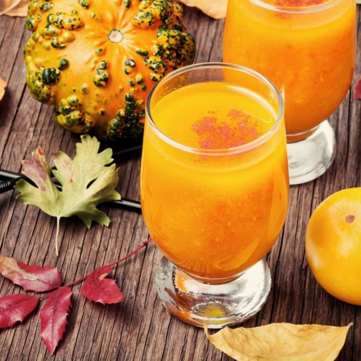 Orange Juice and Pumpkin Smoothie