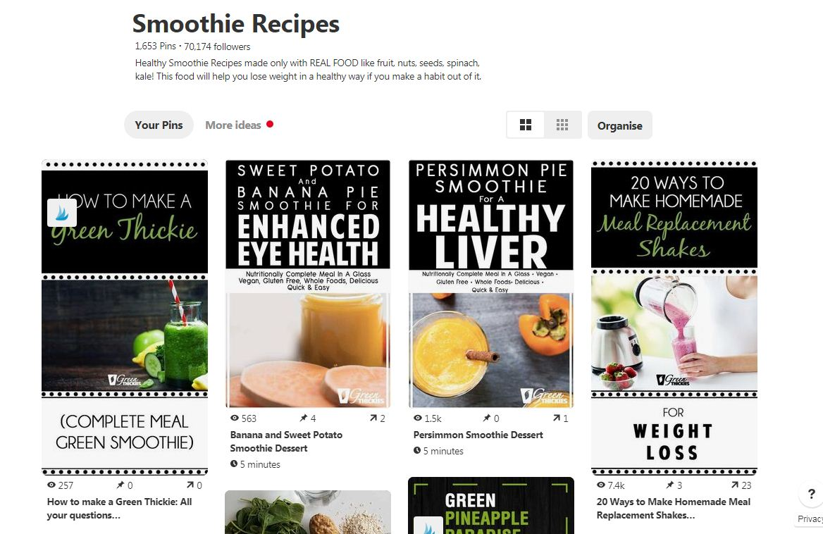 Complete Guide To Smoothies: 200+ Recipes, Diets, Tutorials & Videos; Green Thickies Smoothie Recipes Board