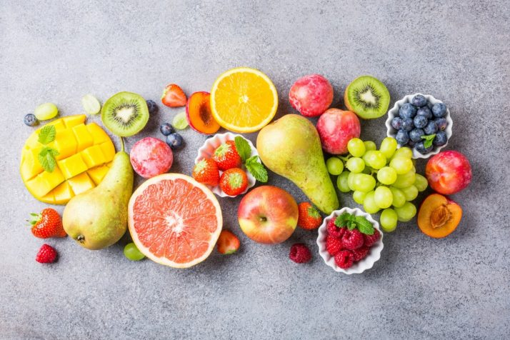 Guide To Fruit: Facts, Benefits, Tutorials, Recipes & Videos; Fresh assorted fruits and berries