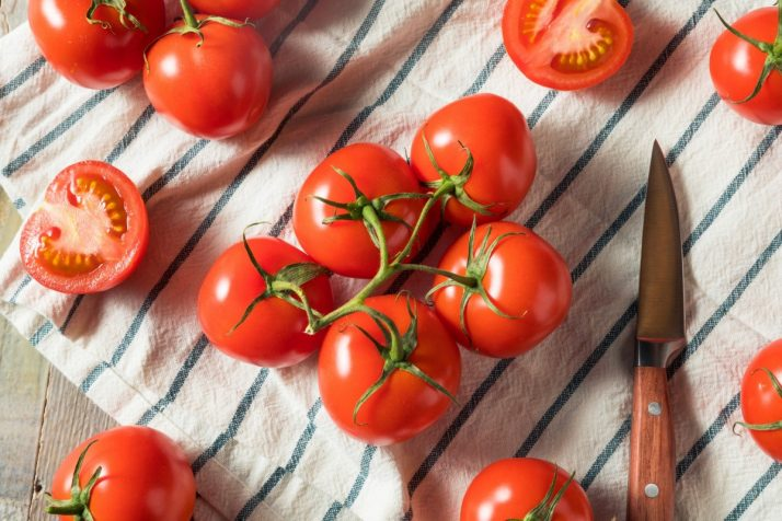 Guide To Fruit: Facts, Benefits, Tutorials, Recipes & Videos; Fresh Organic Red Tomatoes
