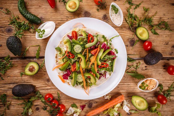 Healthy raw food concept