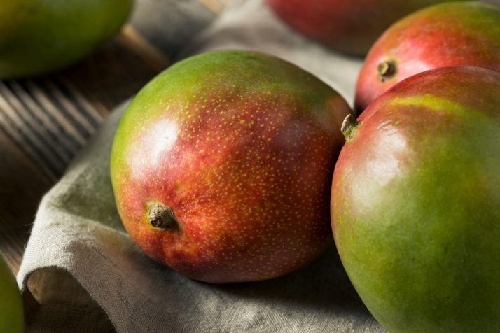 Guide To Mangos: Facts, Benefits, Tutorials, Recipes & Videos; Raw Red Green Organic Mango Fruit