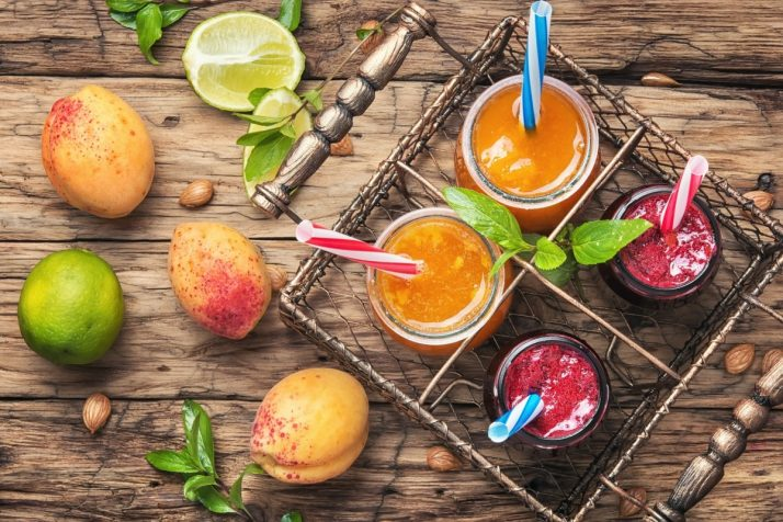Complete Guide To Smoothies: 200+ Recipes, Diets, Tutorials & Videos; Smoothies with apricot and currant