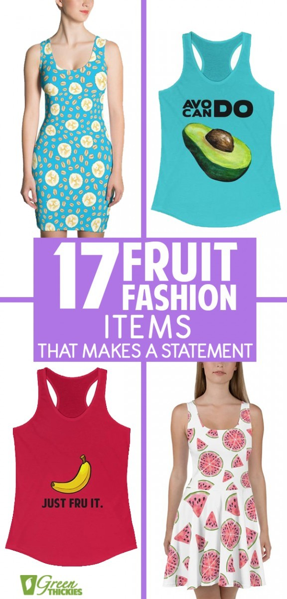 Here are all of the best fruit fashion items including women's t-shirts, ladies tanktops, all over fruit print tops, dresses and other fruit fashion accessories.All the best designs and styles including tropical, inspiration, motivational, print, art, beautiful, simple, ideas.These make the perfect gift for birthdays, Christmas, for your Mom, sister, girlfriend, niece, auntie, or friend.#greenthickies #fruitfashion