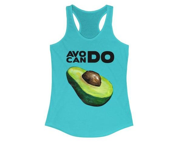 17 Fruit Fashion Items That Makes A Statement; Avocando Women's Ideal Racerback Tank