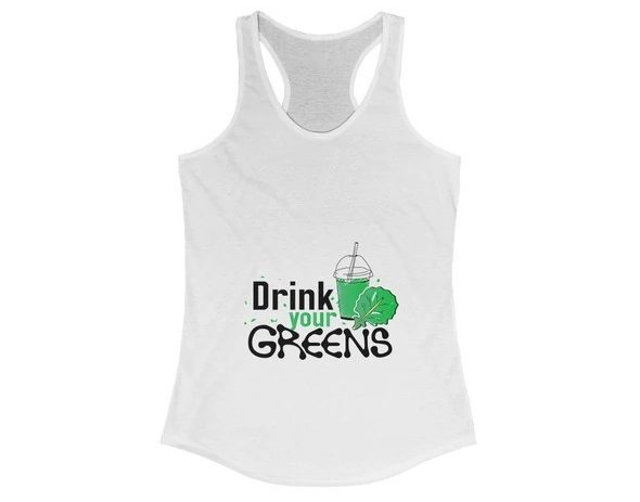 17 Fruit Fashion Items That Makes A Statement; Drink Your Greens Ladies Tank Top~1