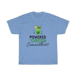 30 Best Gifts For Smoothie Lovers They Will Actually Use; Powered By Green Smoothies Unisex Heavy Cotton Tee