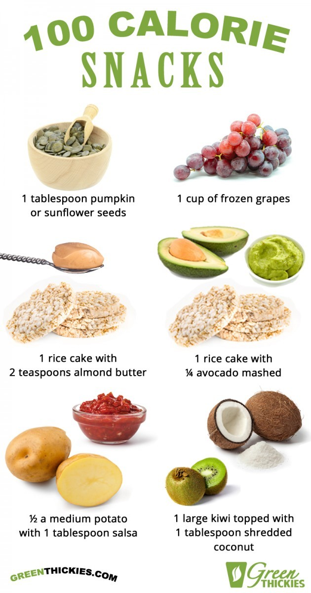 28 Smoothie Snack Recipes To Rev Up Your Metabolism; 100 low calorie snacks