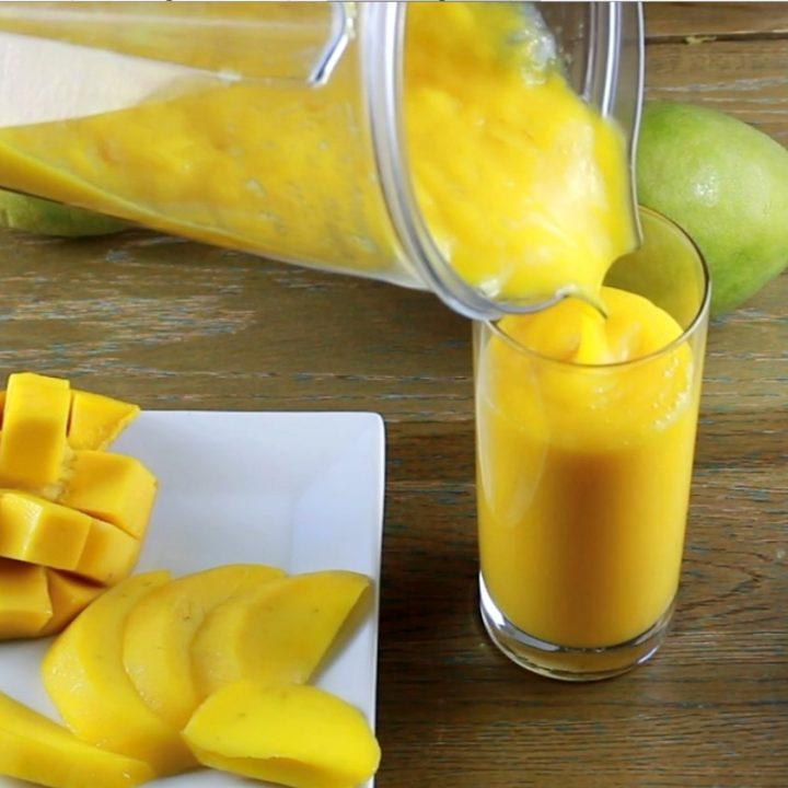 Easiest Mango Smoothie Recipe (2 Ingredient, Raw, Vegan)